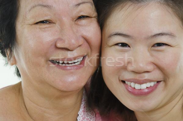 Asian faces Stock photo © szefei