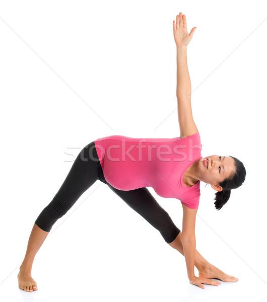 Pregnancy yoga Stock photo © szefei
