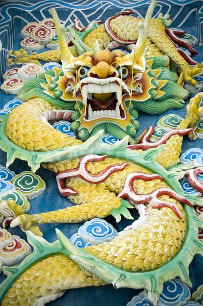 Çin ejderha Çin feng shui seyahat ibadet mimari Stok fotoğraf © szefei