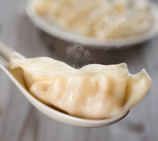 Asian Chinese gourmet dumplings Stock photo © szefei
