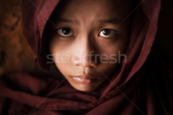 Monnik gezicht jonge Stockfoto © szefei