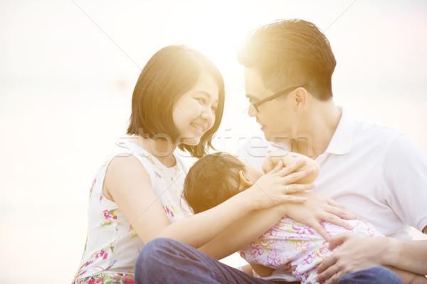 Family enjoying quality time Stock photo © szefei