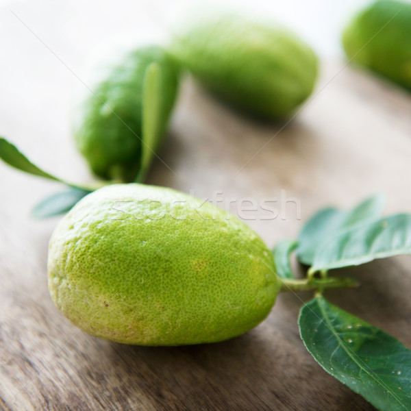 Pesticide free lemons Stock photo © szefei