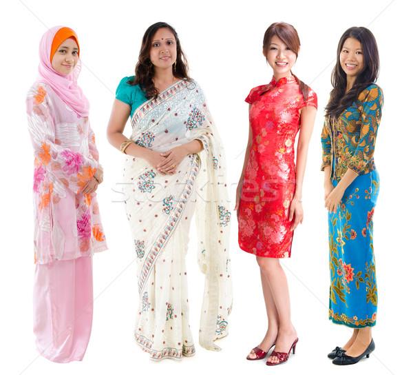 юго-восток азиатских группа женщины различный культура Сток-фото © szefei