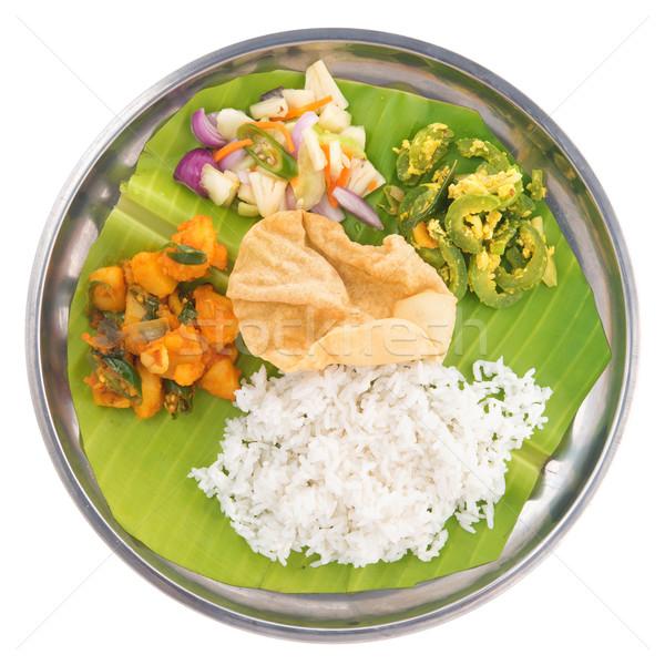Stok fotoğraf: Hint · vejetaryen · karışık · pirinç · görmek · tam · uzunlukta