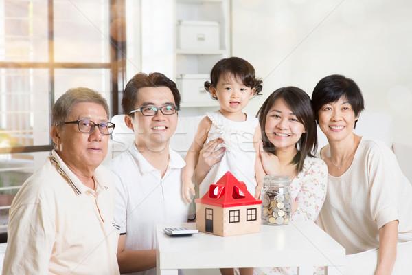 Asian multi generations lifestyle Stock photo © szefei
