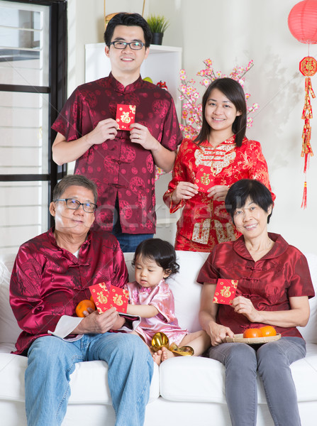 Chinese New Year portrait Stock photo © szefei