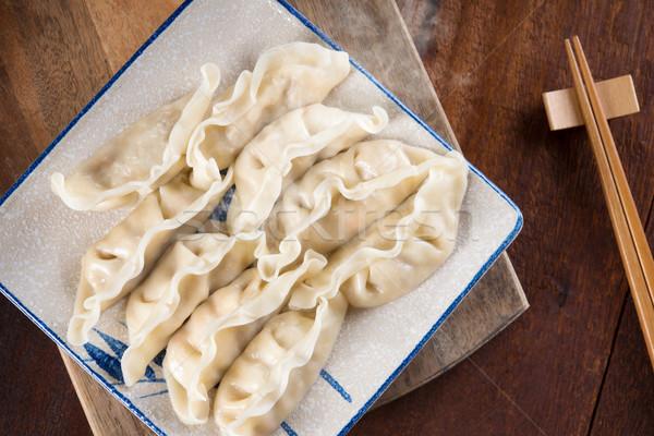 Popular Chinese Boiled Dumplings Stock photo © szefei