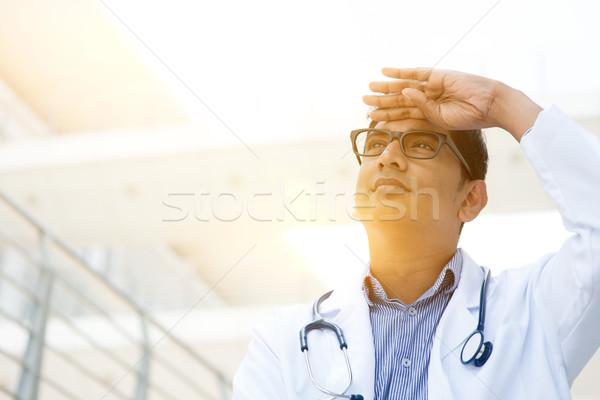 Сток-фото: азиатских · медицинской · врач · портрет · индийской · стороны