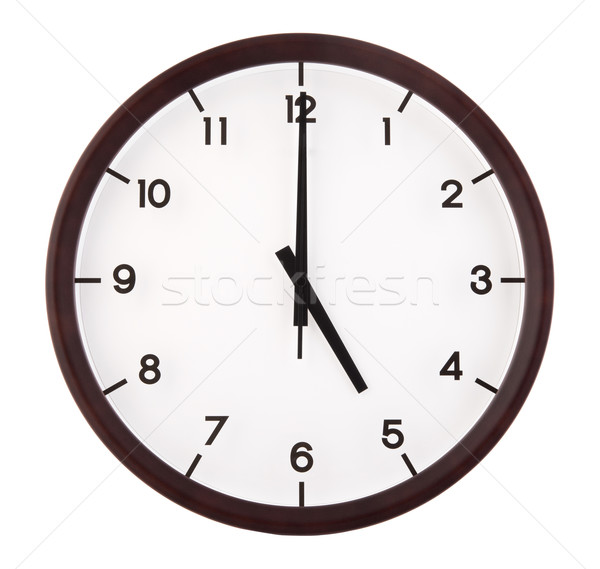 Analog Uhr Hinweis isoliert weiß Stock foto © szefei