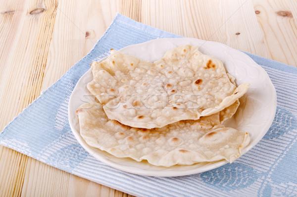 Chapatti or Indian Roti Stock photo © szefei