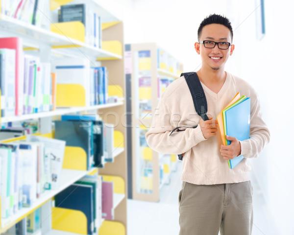 юго-восток азиатских взрослый студент библиотека красивый Сток-фото © szefei