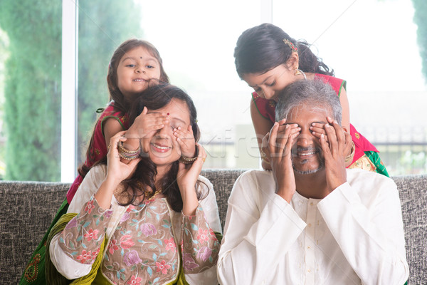 Surprise to dad and mom Stock photo © szefei