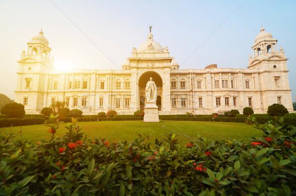 Landmark building Victoria Memorial in India Stock photo © szefei