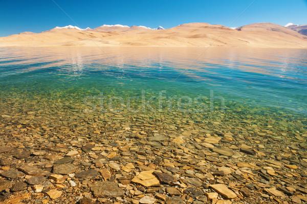 Tsomoriri lake Stock photo © szefei