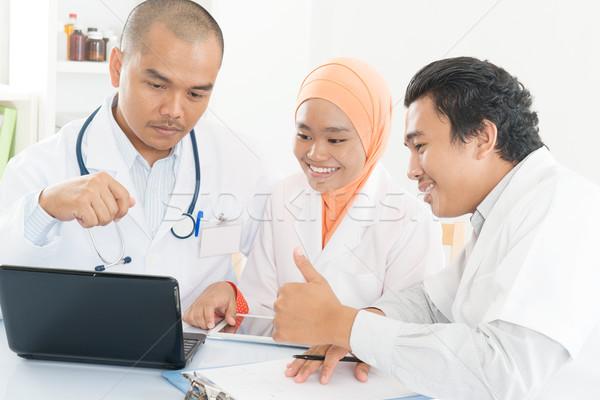 Stok fotoğraf: Asya · tıbbi · takım · toplantı · hastane · ofis