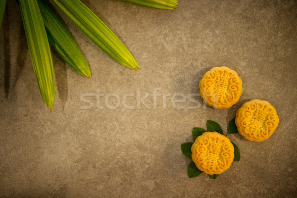 Mid-Autumn Festival Mooncakes with copy space Stock photo © szefei