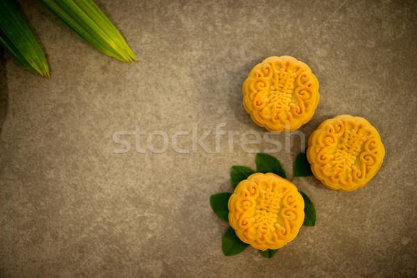 Festival luna tortas tradicional mesa Foto stock © szefei