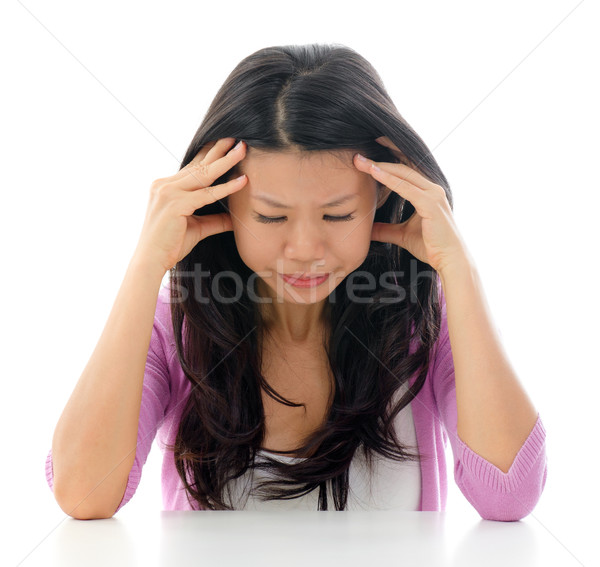 Headache Asian woman  Stock photo © szefei