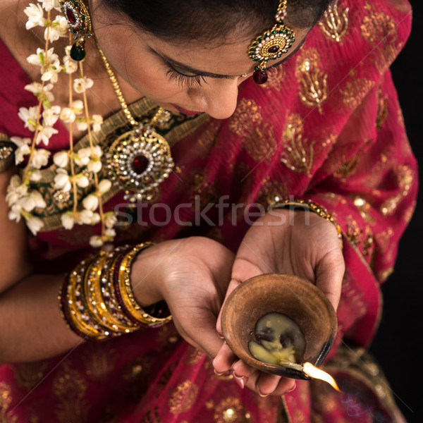 Diwali festive of lights celebration Stock photo © szefei