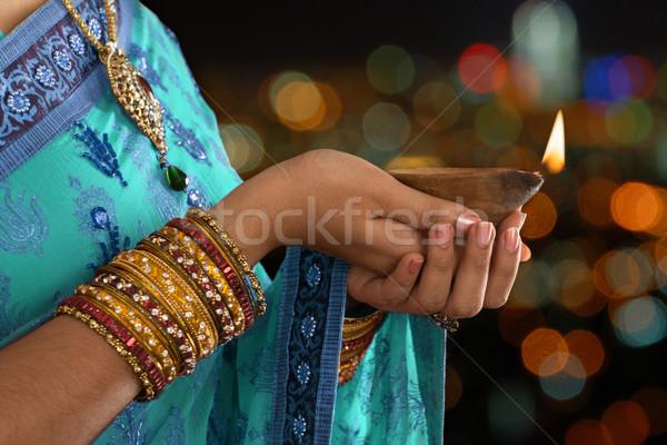 Stockfoto: Gelukkig · diwali · feestelijk · lichten · traditioneel · indian