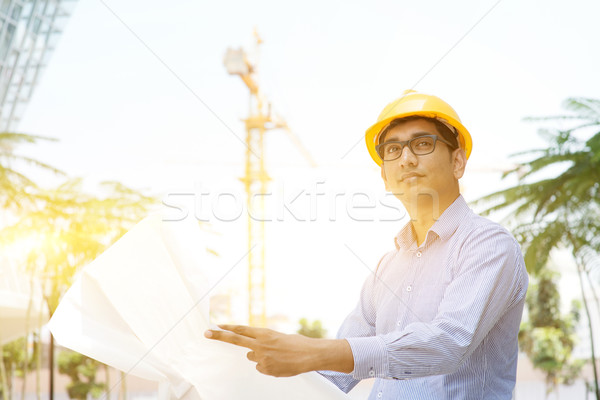 06c668c352f Asian Indian male contractor engineer inspecting at site stock photo ...