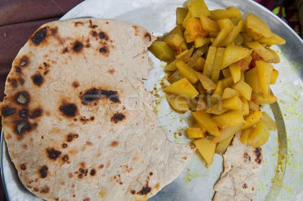 индийской уличной еды карри растительное улице хлеб Сток-фото © szefei