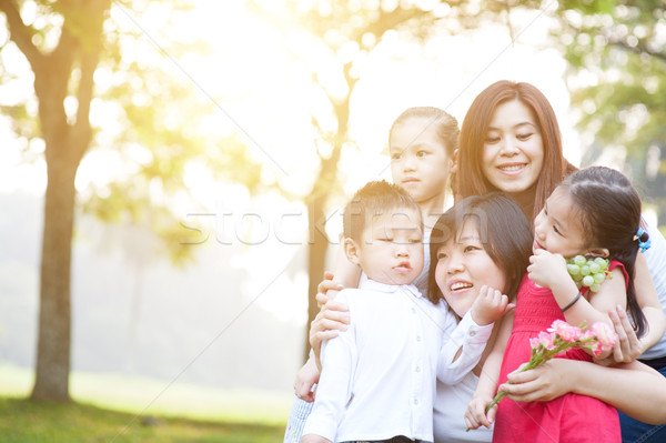 Group of Asian family portrait Stock photo © szefei