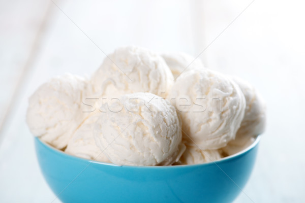 Vanilla ice cream bowl Stock photo © szefei