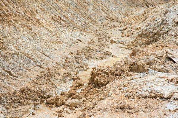 Sand mines close up Stock photo © szefei
