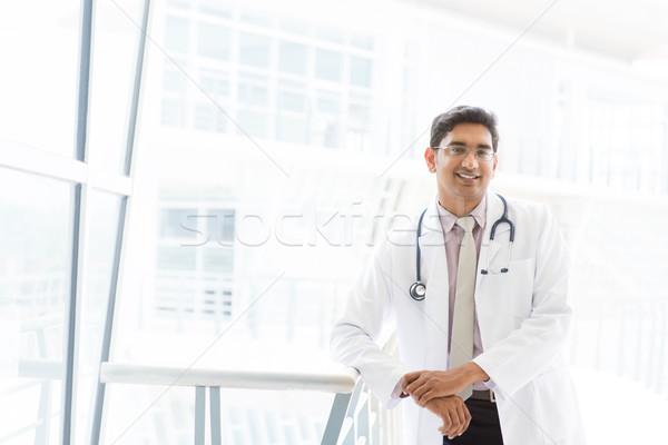 Сток-фото: улыбаясь · азиатских · индийской · мужчины · медицинской · врач