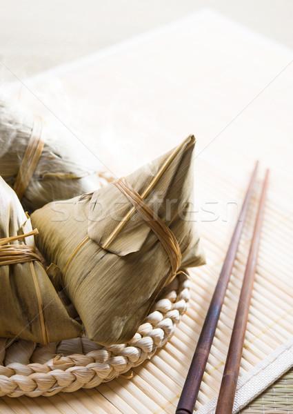 Chinese Sticky Glutinous Rice Dumplings Stock photo © szefei