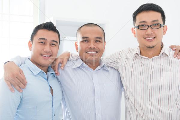 Sudeste asiático equipe de negócios escritório negócio homens Foto stock © szefei