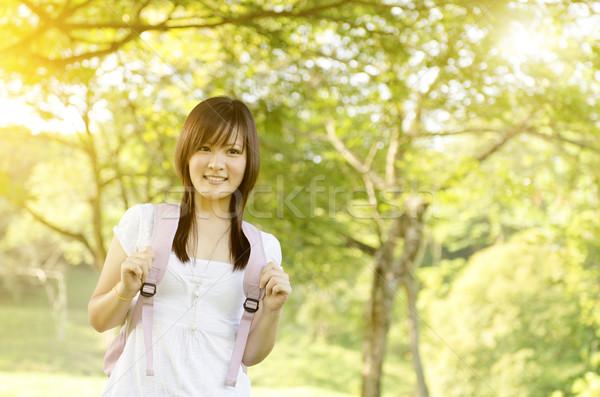 Young college girl portrait Stock photo © szefei