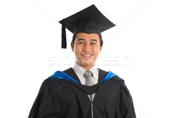 Stock fotó: Egyetemi · hallgató · érettségi · portré · vonzó · délkelet · ázsiai