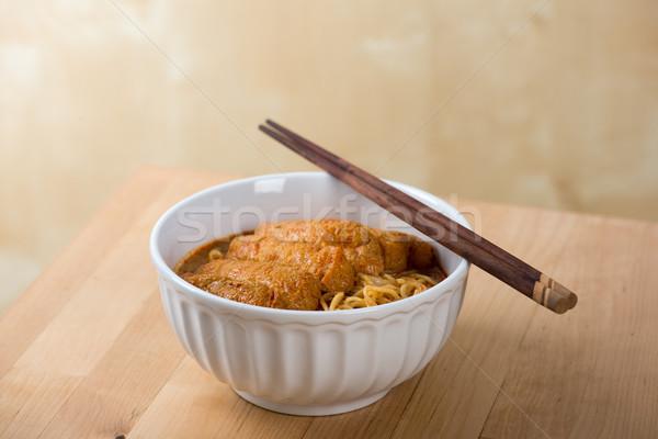 горячей пряный карри кухня палочки для еды Сток-фото © szefei