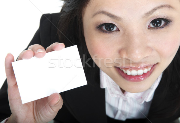 Blank business card Stock photo © szefei