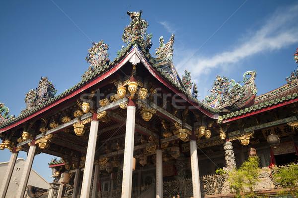 Malezya ünlü klan tapınak bir Stok fotoğraf © szefei