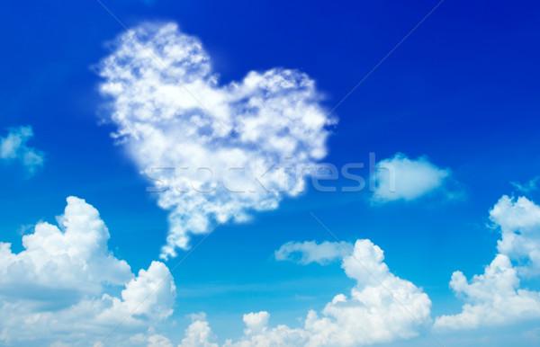 Love shape cloud Stock photo © szefei