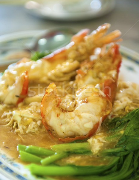 Fresh Water Prawn Noodles Stock photo © szefei