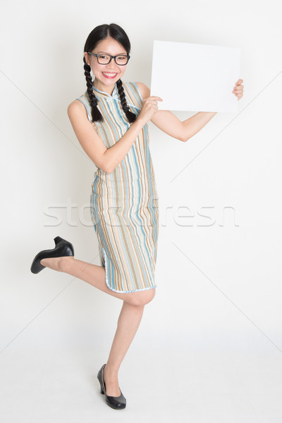Asian chinese vrouwelijke handen witte Stockfoto © szefei