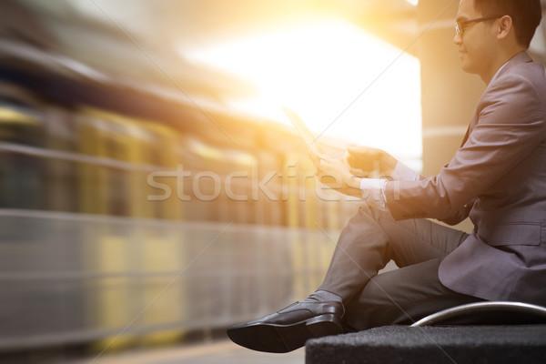 Gare asian affaires numérique gare Photo stock © szefei
