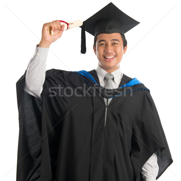 University student in graduation day Stock photo © szefei