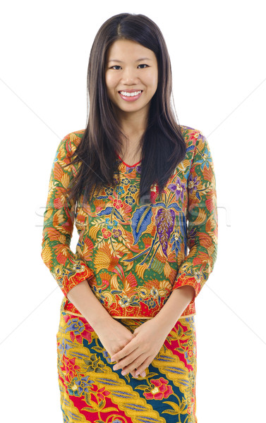 Asian woman in batik Stock photo © szefei