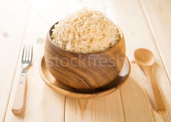 India cooked organic basmati brown rice Stock photo © szefei