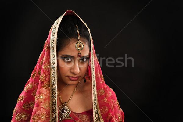 Indian woman in traditional sari  Stock photo © szefei