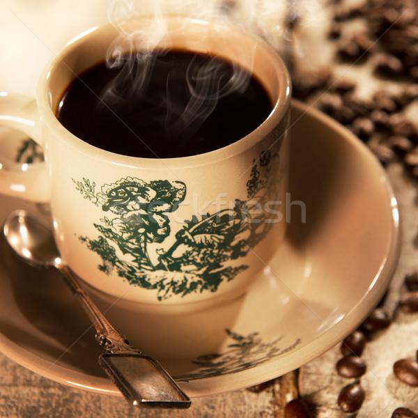 Traditional style Malaysian Chinese coffee in vintage mug Stock photo © szefei