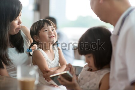率直な 写真 アジア 家族 人 カフェテリア ストックフォト © szefei