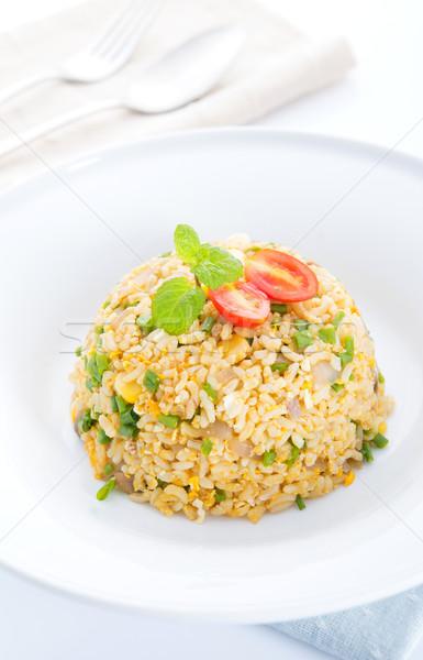 Asian Chinese egg fried rice Stock photo © szefei