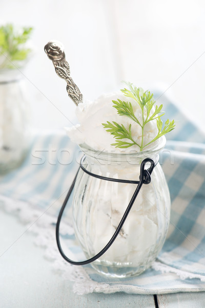 Close up coconut milk ice cream Stock photo © szefei